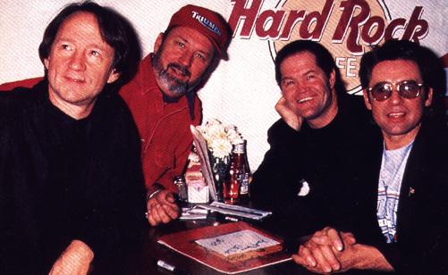 All 4 Monkees at Hard Rock Ceremony