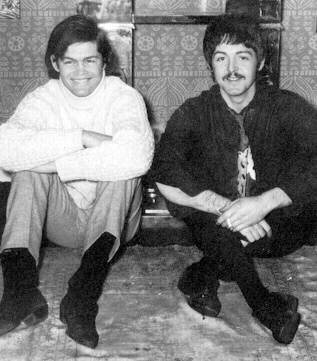 Micky Dolenz with Paul McCartney