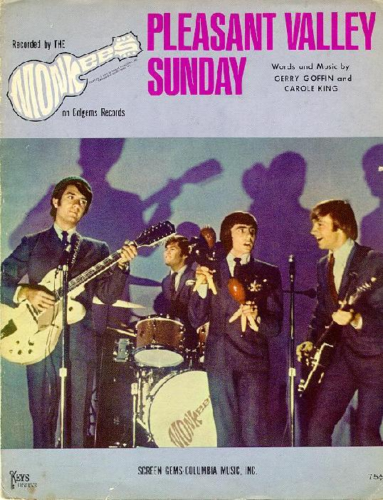 Monkees Pleasant Valley Sunday Sheet Music Cover