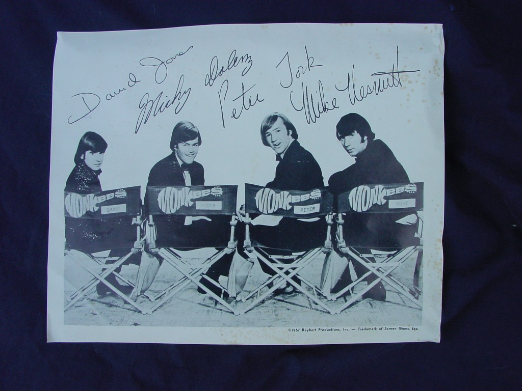 monkees signed photo