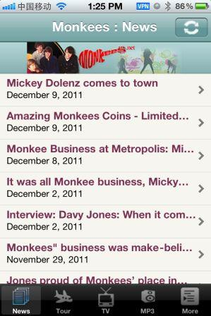 Brand New Monkees iPhone APP!