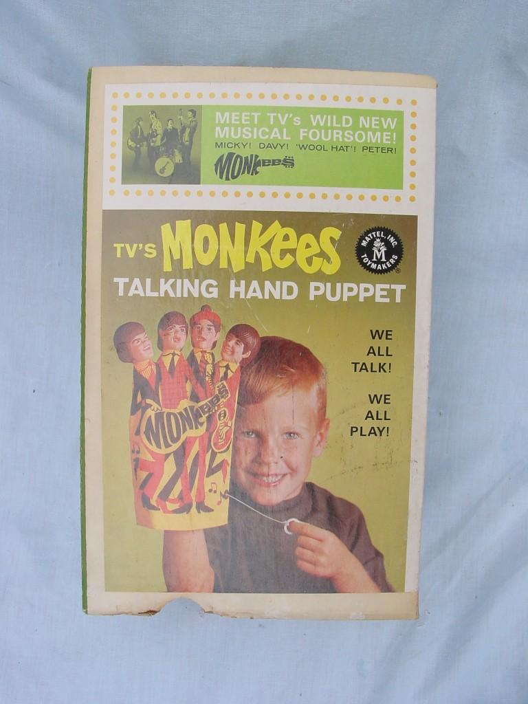 monkees hand puppet box