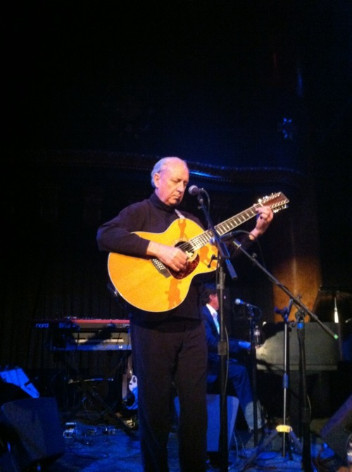 Michael Nesmith performing onstage at the Great American Music Hall in San Francisco, CA on May 4, 2012.