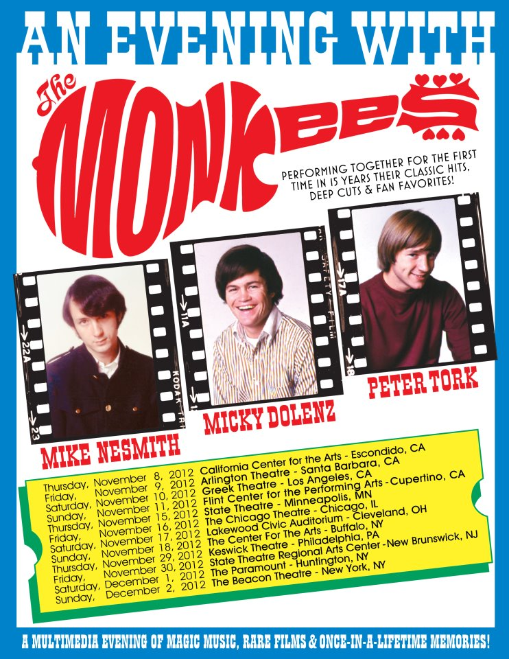 Monkees Announce 2012 Reunion Tour Dates!