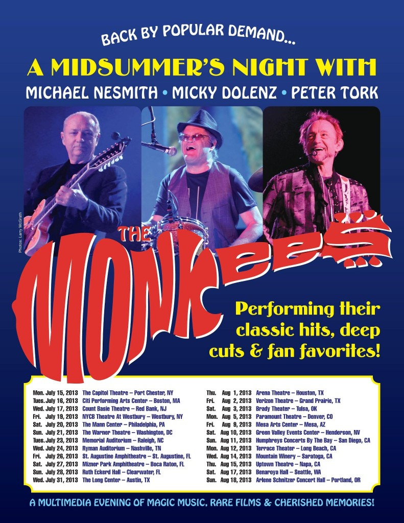 Monkees Announce 2013 Full Tour Dates!