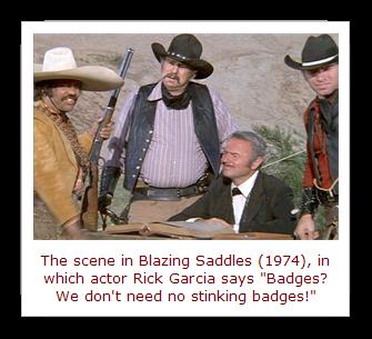 Blazing Saddles, No Stinking Badges scene[19]