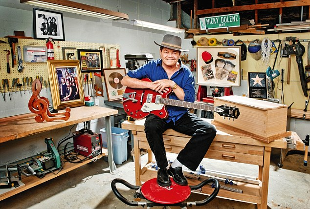 My haven, Micky Dolenz:  The Monkees singer and drummer in the furniture workshop at his Los Angeles home