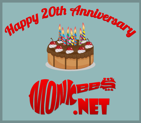 Monkees.Net is 20! Happy Birthday