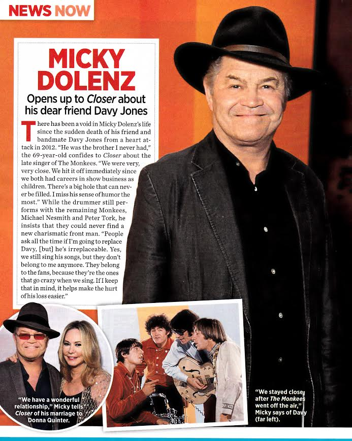 Micky Dolenz in Closer