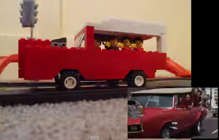 Monkees TV Intro in Legos