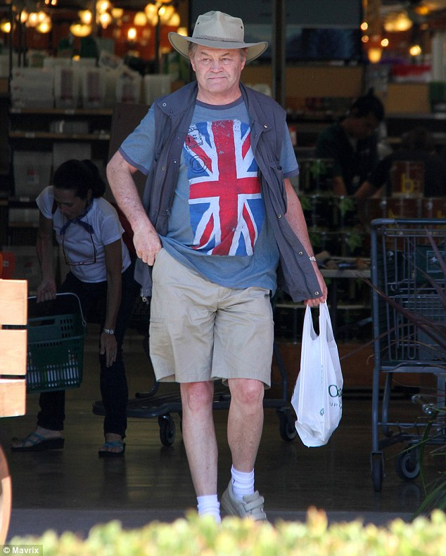 Ironic: Wearing a British flag seems an odd choice when it celebrates America's independence from its former sovereign nation