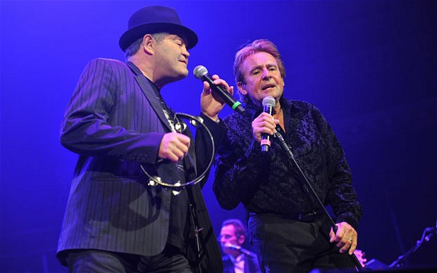 Senior moments: Micky Dolenz and Davy Jones of The Monkees at Royal Albert Hall